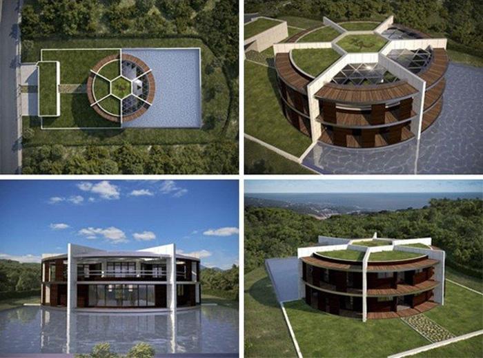 Ngôi nhà đậm chất sân cỏ của Messi - Ảnh 4.