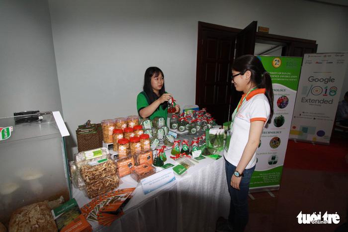 Thực phẩm sạch, camera toàn cảnh... tại triển lãm khởi nghiệp Đà Nẵng - Ảnh 2.