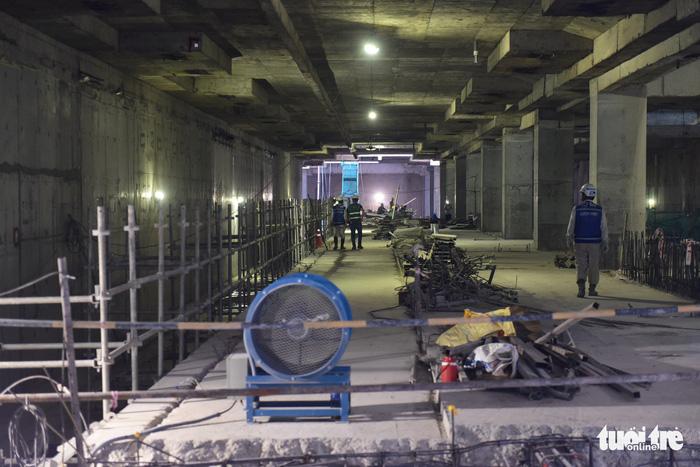 Thông đường hầm thứ 2 tuyến metro số 1 TP.HCM - Ảnh 5.