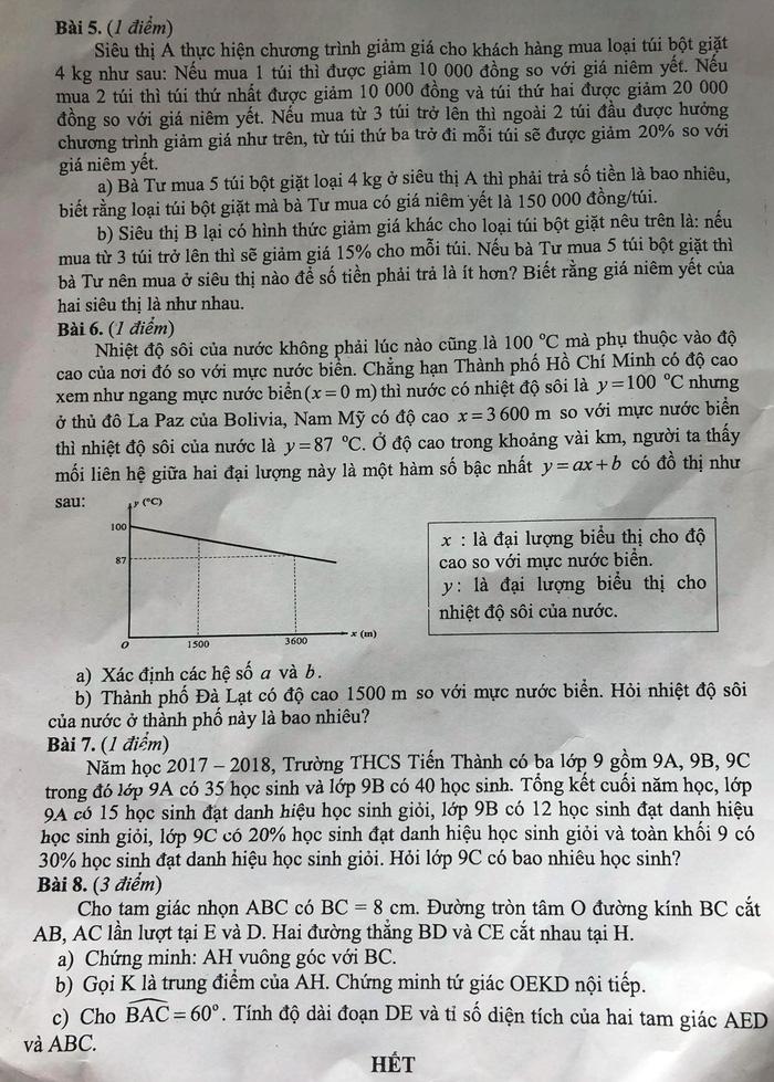 Bài giải môn toán thi tuyển sinh lớp 10 TP.HCM - Ảnh 3.