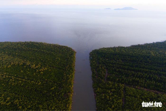 Ngắm khu dự trữ sinh quyển thế giới Mũi Cà Mau từ trên cao