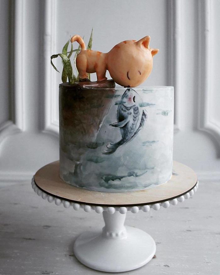 Những chiếc bánh ngọt đẹp không nỡ ăn của mỹ nhân Nga - Ảnh 1.