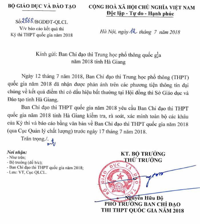 Điểm thi THPT quốc gia ở Hà Giang bất thường, Bộ GD-ĐT vào cuộc - Ảnh 3.