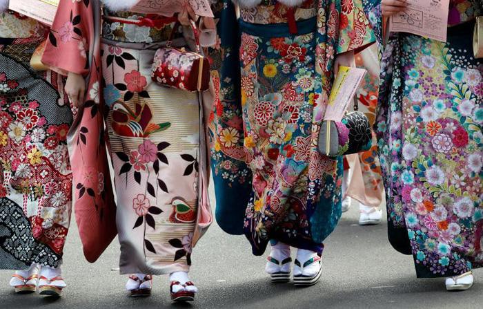 Thiếu nữ Nhật rạng rỡ kimono trong lễ trưởng thành - Ảnh 9.