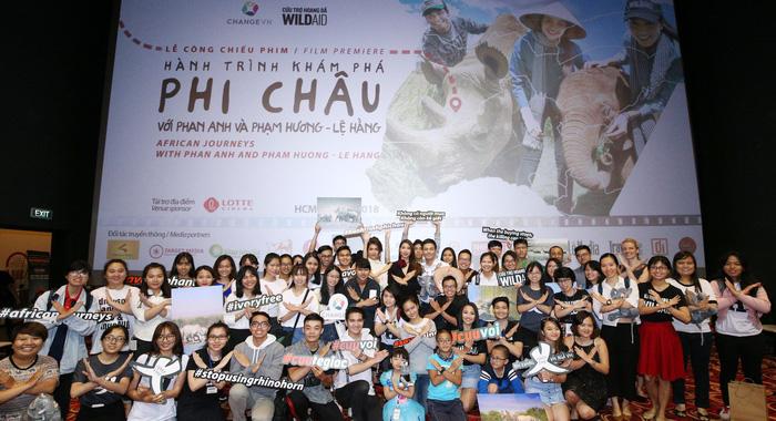 Phan Anh, Phạm Hương, Lệ Hằng chiếu phim bảo vệ voi, tê giác - Ảnh 8.