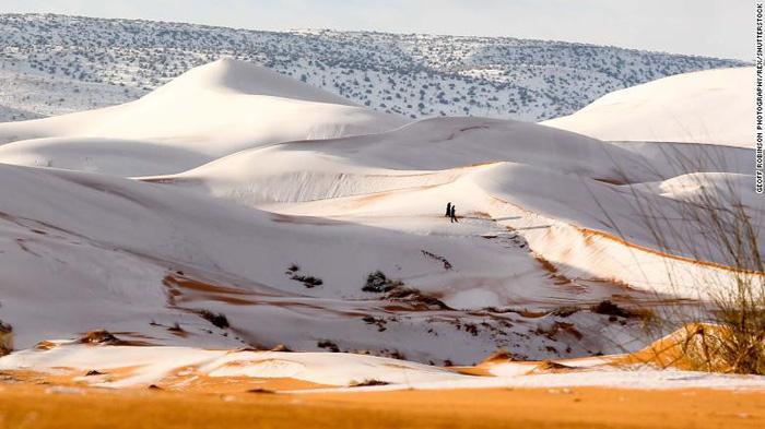 Video tuyết phủ đầy sa mạc nóng nhất thế giới - Ảnh 5.