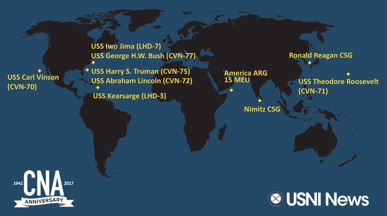 Ba tàu sân bay Mỹ tới châu Á bảo vệ ông Trump - Ảnh 1.