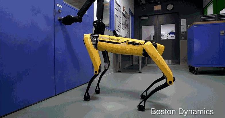 Chó robot biết mở cửa và dùng chân giữ cửa như thật - Ảnh 1.