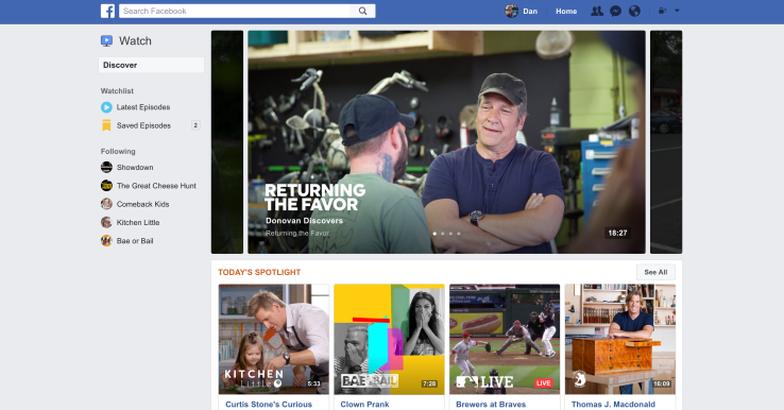 Facebook tạo kênh tin nóng trong nền tảng Facebook Watch - Ảnh 1.