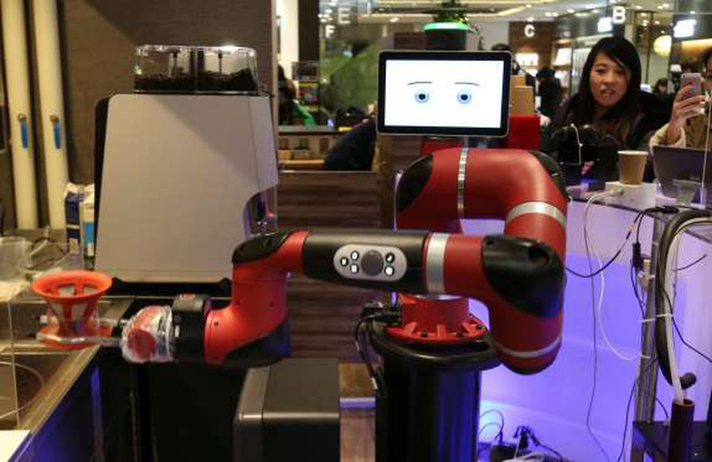 Robot pha cà phê trong tiệm mới khai trương tại Tokyo - Ảnh 3.
