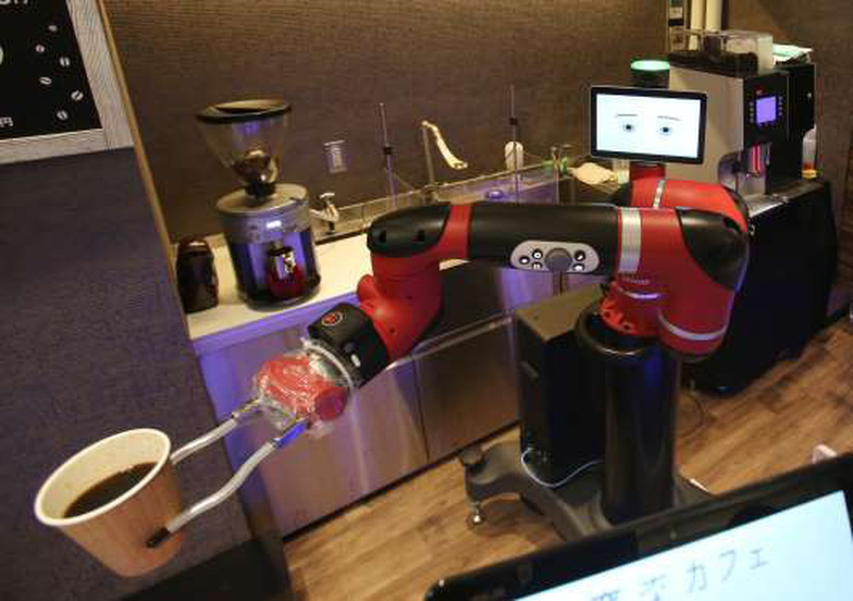 Robot pha cà phê trong tiệm mới khai trương tại Tokyo - Ảnh 1.