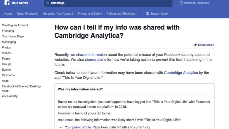 Công cụ giúp kiểm tra ngay ai là nạn nhân của Cambridge Analytica - Ảnh 1.