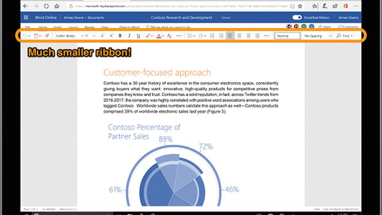 Microsoft thiết kế lại phần mềm Office gọn gàng, đơn giản hơn - Ảnh 1.