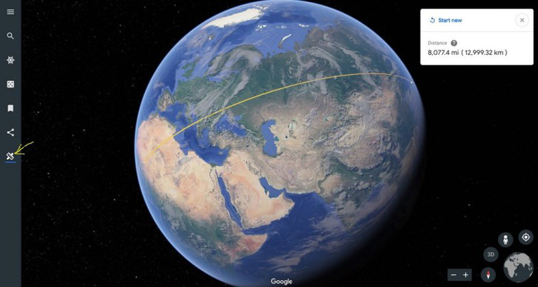 Google Earth giúp người dùng đo khoảng cách và diện tích - Ảnh 3.