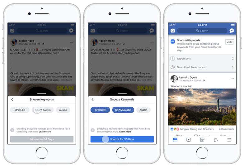 Người dùng Facebook đã có thể 'tắt tiếng' những từ khó chịu - Ảnh 1.