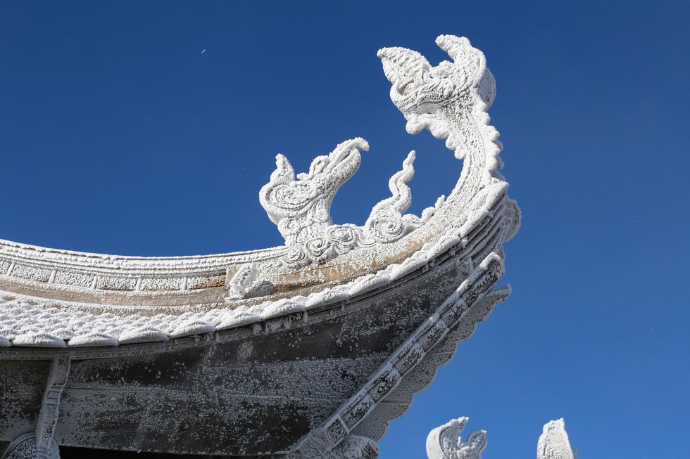 Mưa tuyết phủ trắng đỉnh Fansipan đẹp như cổ tích - Ảnh 12.