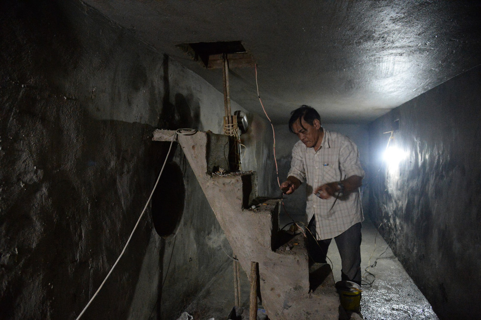 Khui hầm chứa vũ khí giữa Sài Gòn bỏ dở từ năm 1968 - Ảnh 1.