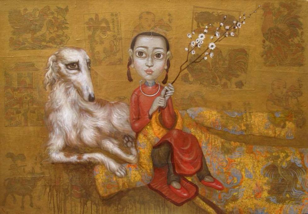 Họa sĩ Việt tung tranh vẽ chó đón năm Mậu Tuất  - Ảnh 7.