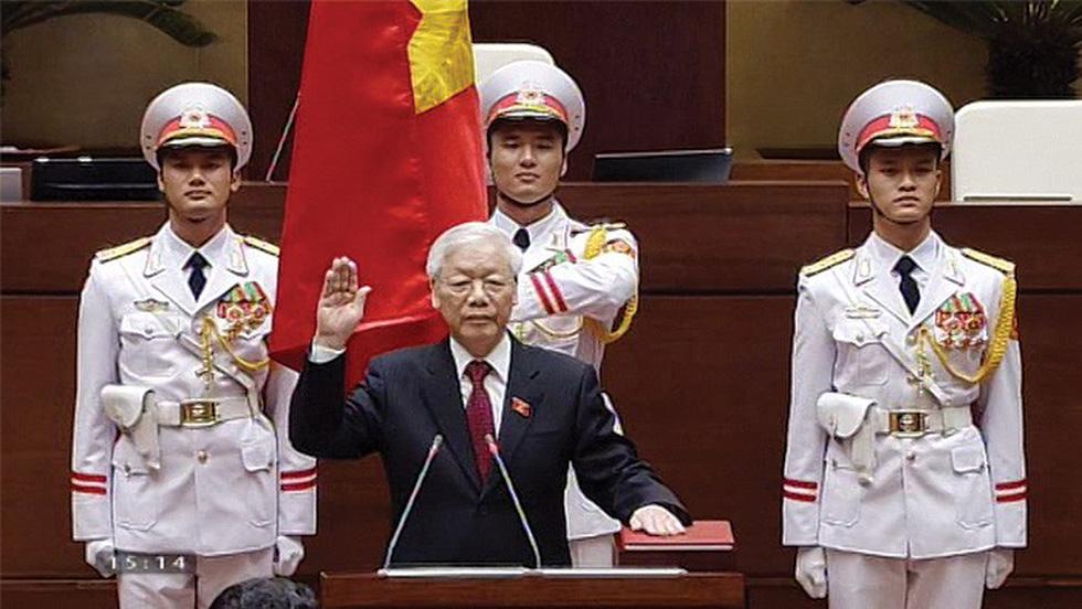 Tân Chủ tịch nước Nguyễn Phú Trọng:Không được quá say sưa với thắng lợi và càng không được ngủ quên trên vòng nguyệt quế...