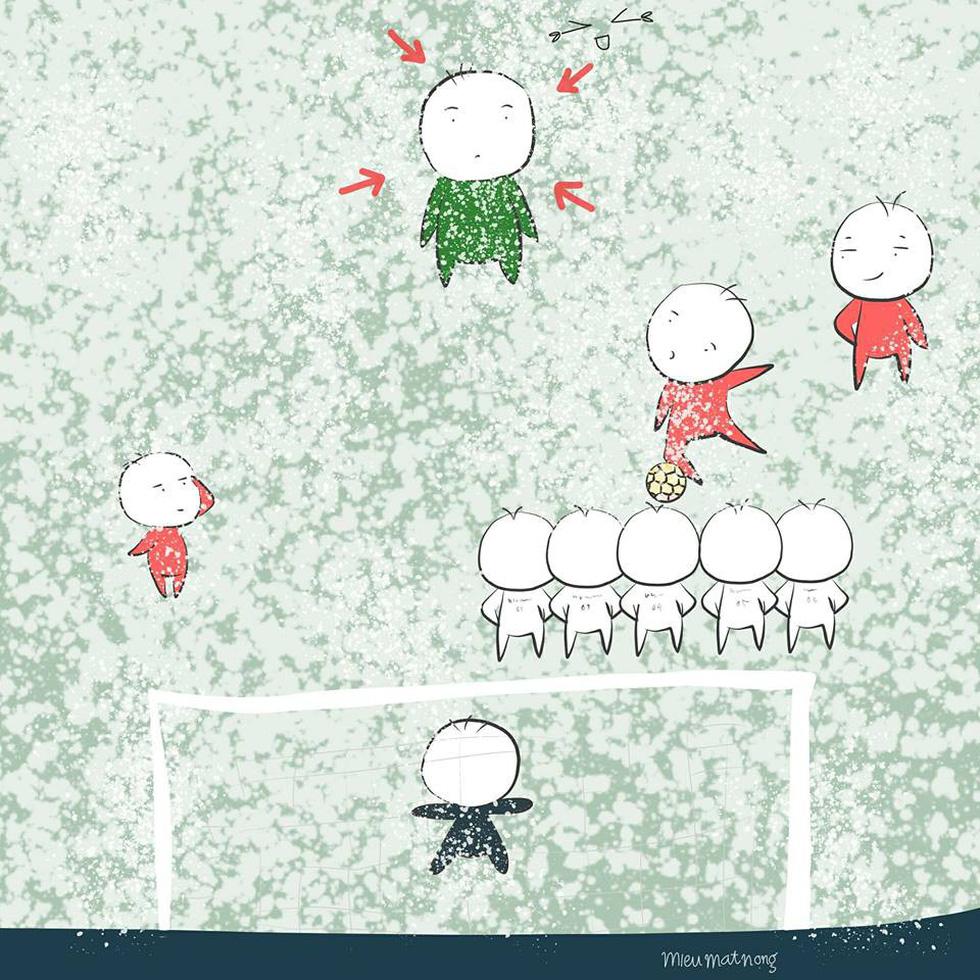 Loạt hình vẽ đáng yêu về hành trình đáng nhớ của U23 Việt Nam - Ảnh 10.