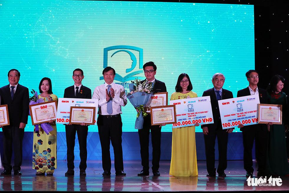 Bốn công trình đoạt giải Tri thức trẻ vì giáo dục - Ảnh 1.