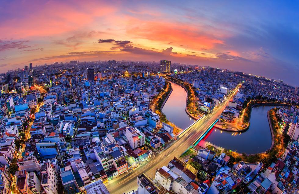 Bộ ảnh Sài Gòn tuyệt đẹp chụp từ trên cao - Ảnh 2.