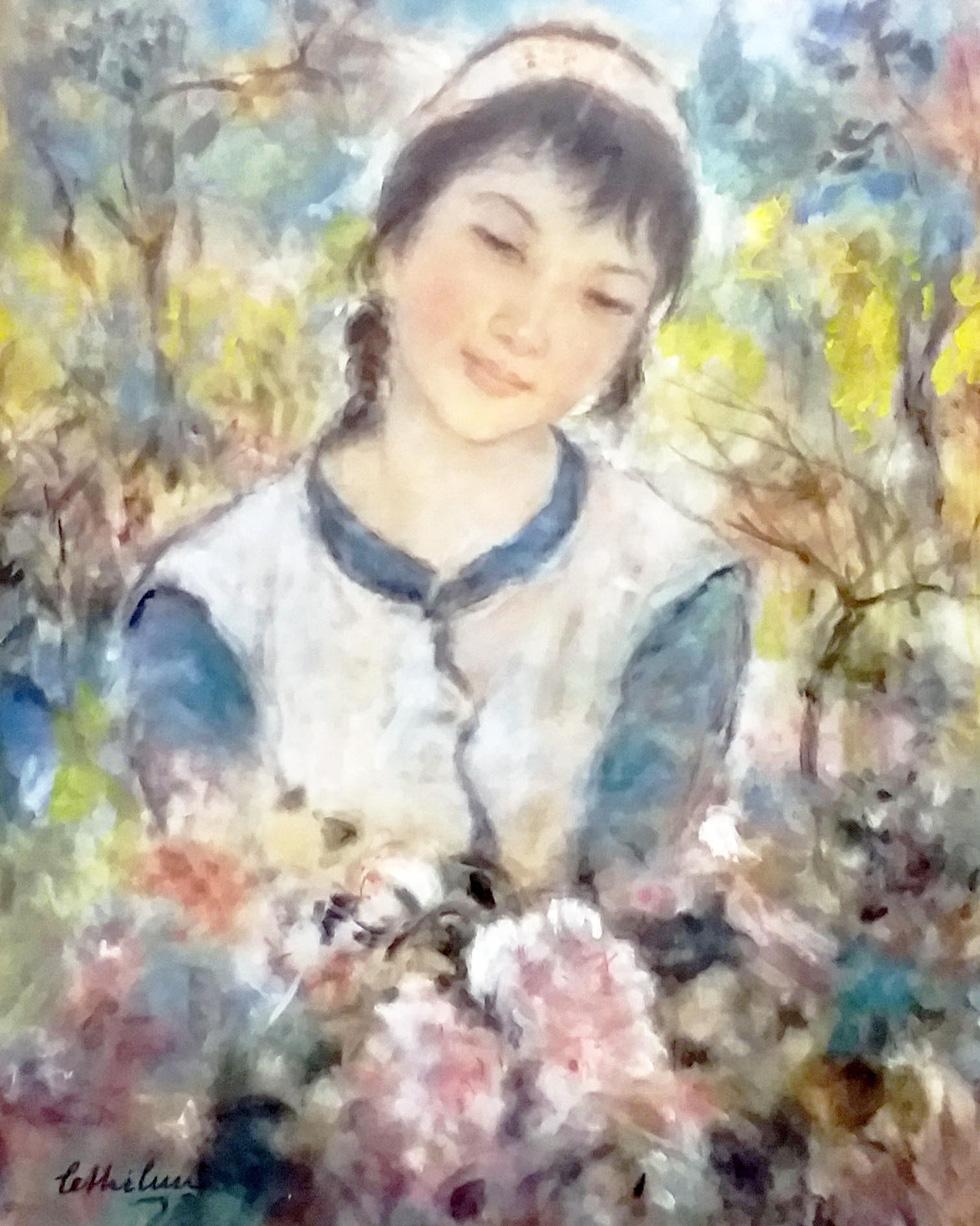 Đón 26 tác phẩm của họa sĩ Lê Thị Lựu tại triển lãm Ấn tượng hoàng hôn - Ảnh 1.