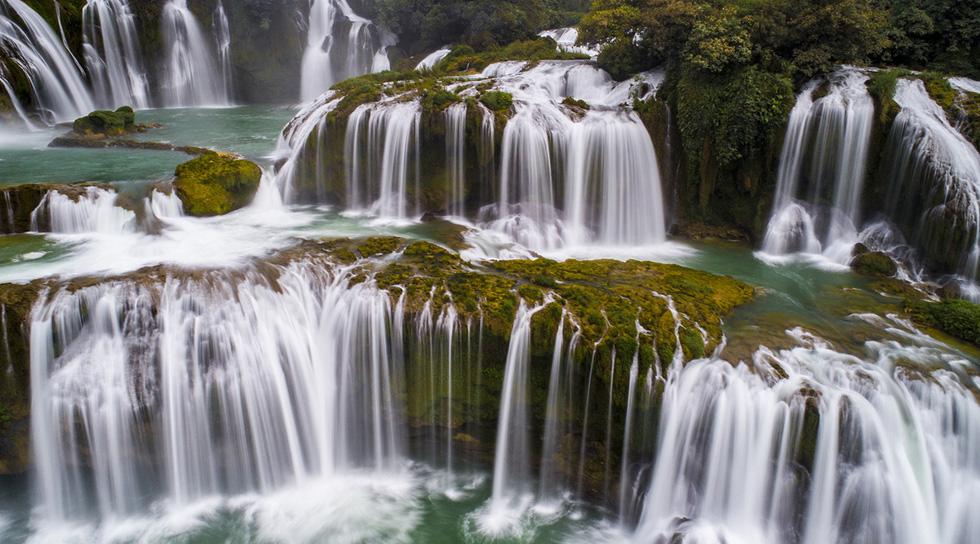 Kỳ vĩ thác Bản Giốc mùa nước đổ - Ảnh 4.