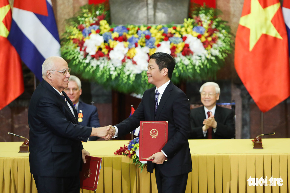 Chùm ảnh Chủ tịch Cuba Miguel Díaz-Canel thăm Việt Nam - Ảnh 8.