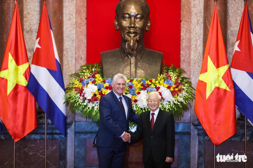 Chùm ảnh Chủ tịch Cuba Miguel Díaz-Canel thăm Việt Nam - Ảnh 4.