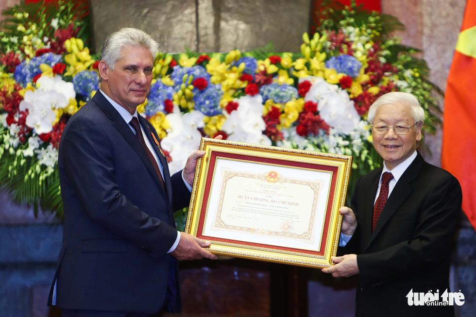 Chùm ảnh Chủ tịch Cuba Miguel Díaz-Canel thăm Việt Nam - Ảnh 6.