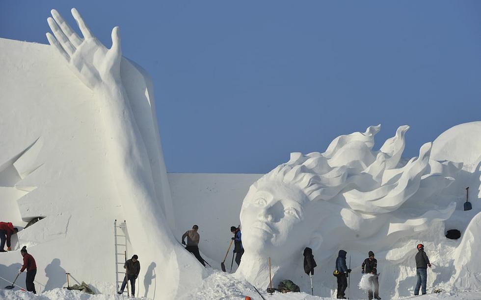 Sang Hàn Quốc và Trung Quốc vui lễ hội băng tuyết - Ảnh 12.