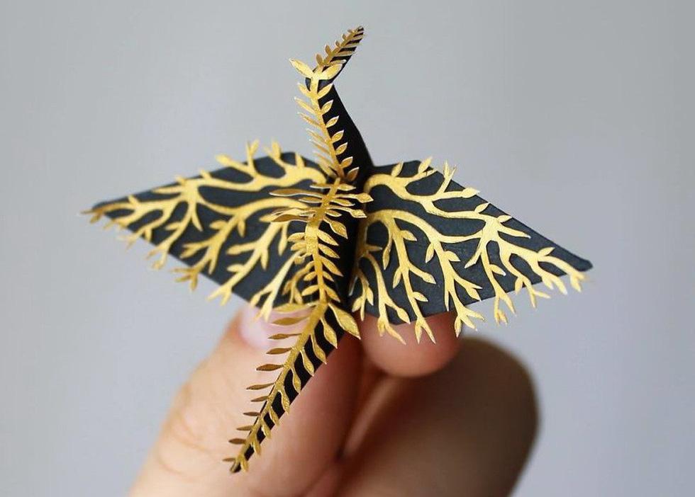 Ngắm những chú hạc giấy origami đẹp ngỡ ngàng - Ảnh 5.