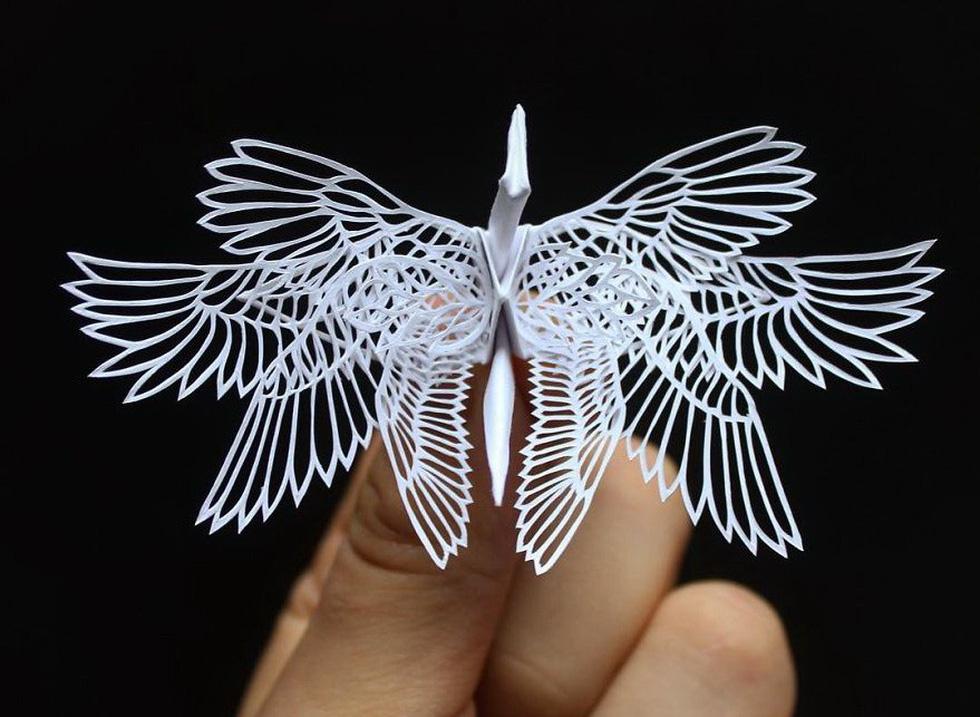 Ngắm những chú hạc giấy origami đẹp ngỡ ngàng - Ảnh 7.