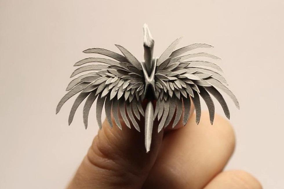 Ngắm những chú hạc giấy origami đẹp ngỡ ngàng - Ảnh 9.