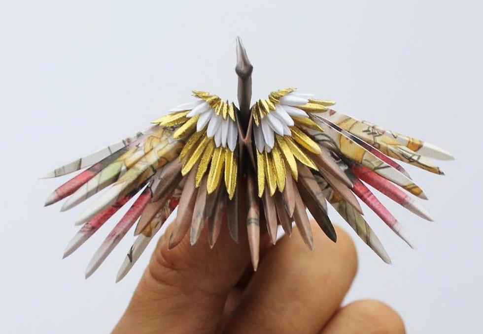 Ngắm những chú hạc giấy origami đẹp ngỡ ngàng - Ảnh 11.