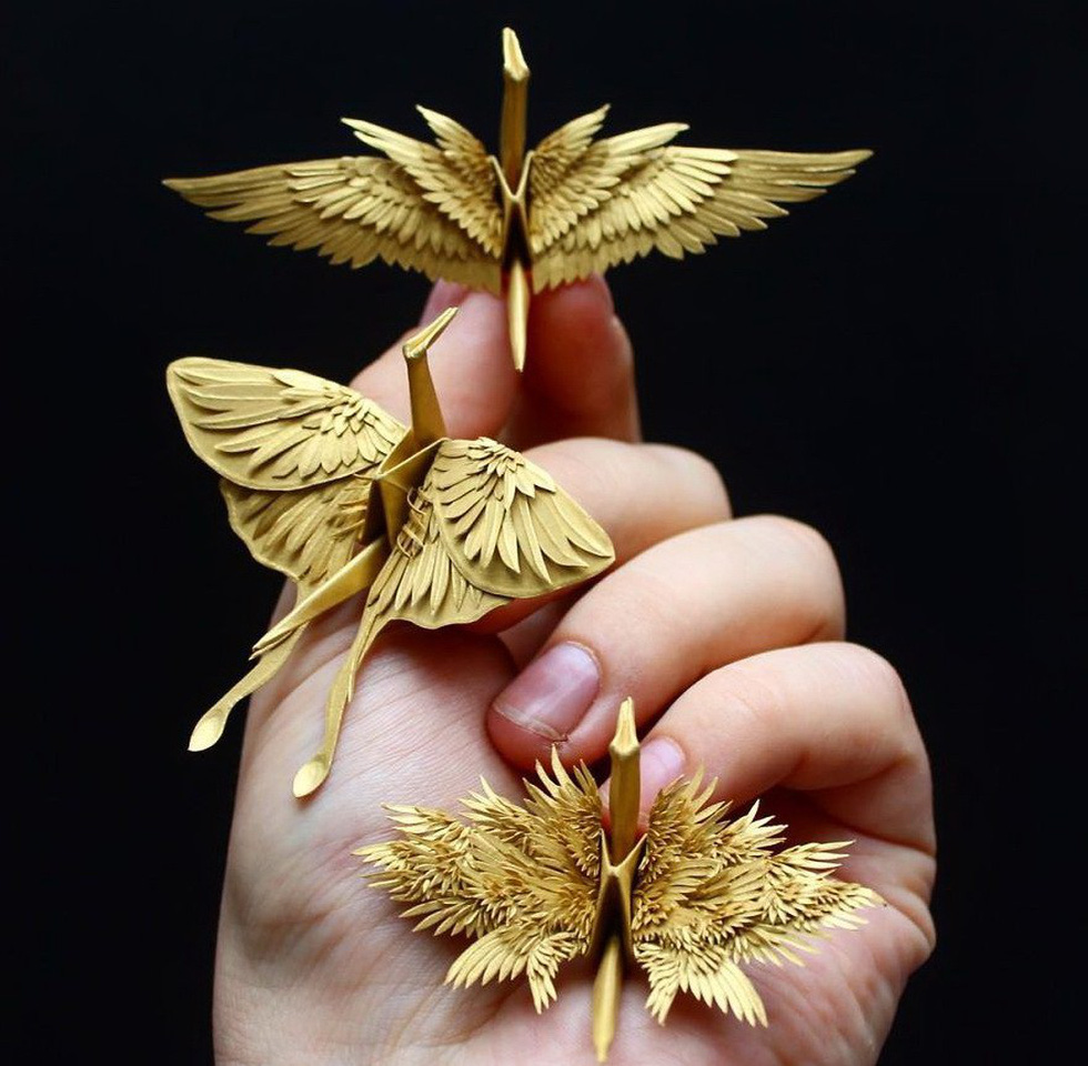 Ngắm những chú hạc giấy origami đẹp ngỡ ngàng - Ảnh 12.