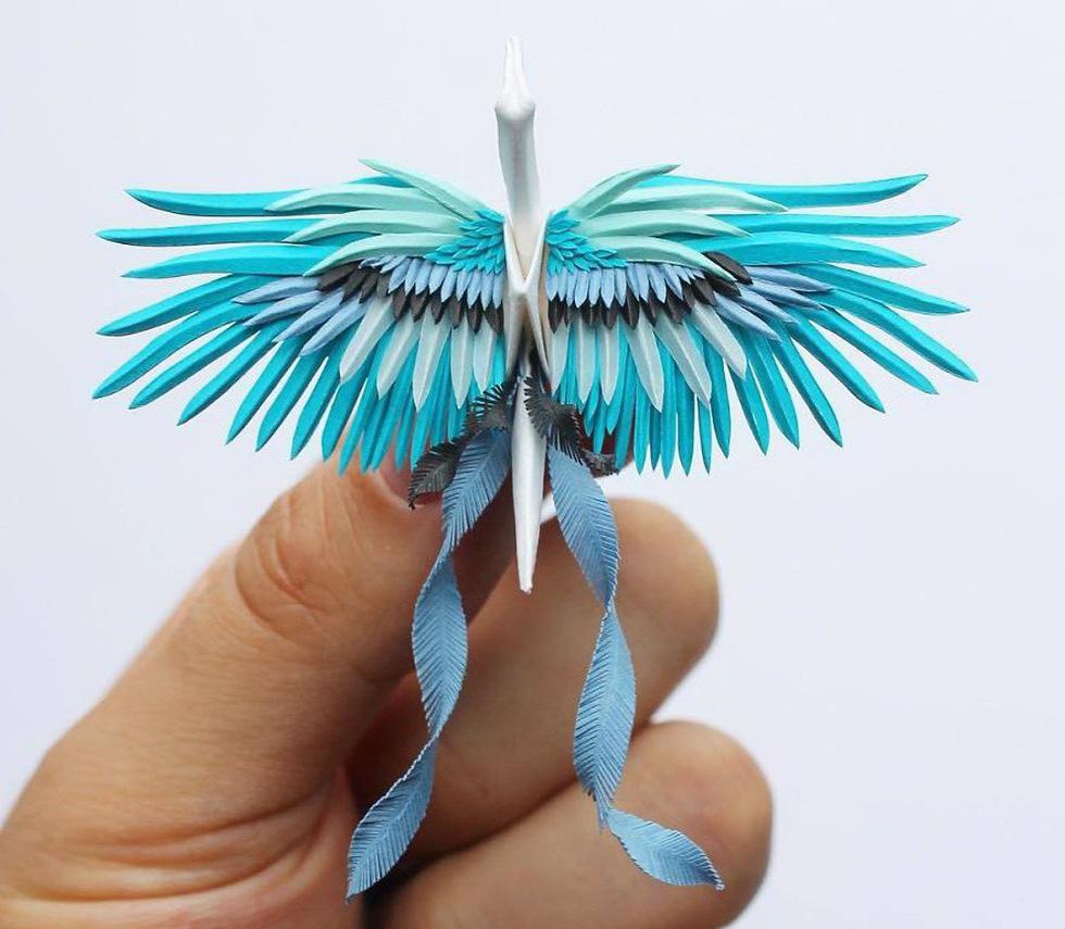 Ngắm những chú hạc giấy origami đẹp ngỡ ngàng - Ảnh 16.