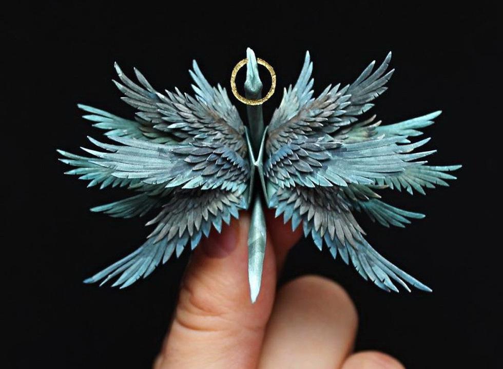 Ngắm những chú hạc giấy origami đẹp ngỡ ngàng - Ảnh 18.