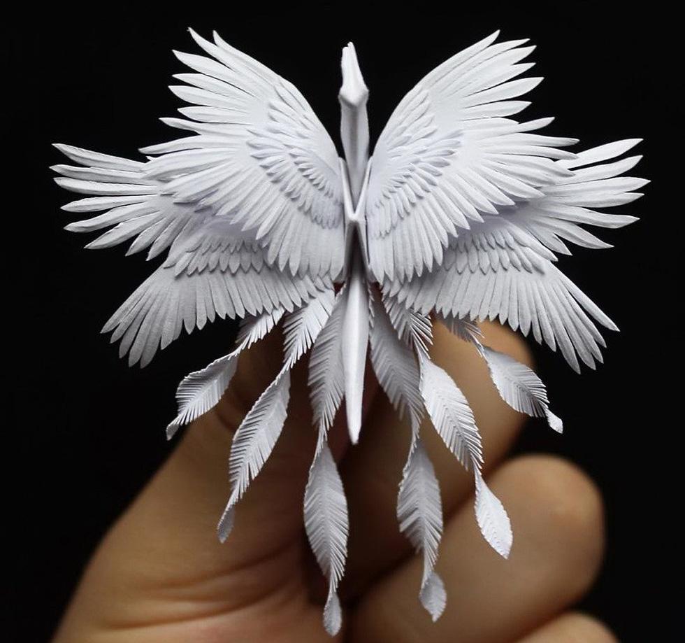 Ngắm những chú hạc giấy origami đẹp ngỡ ngàng - Ảnh 19.