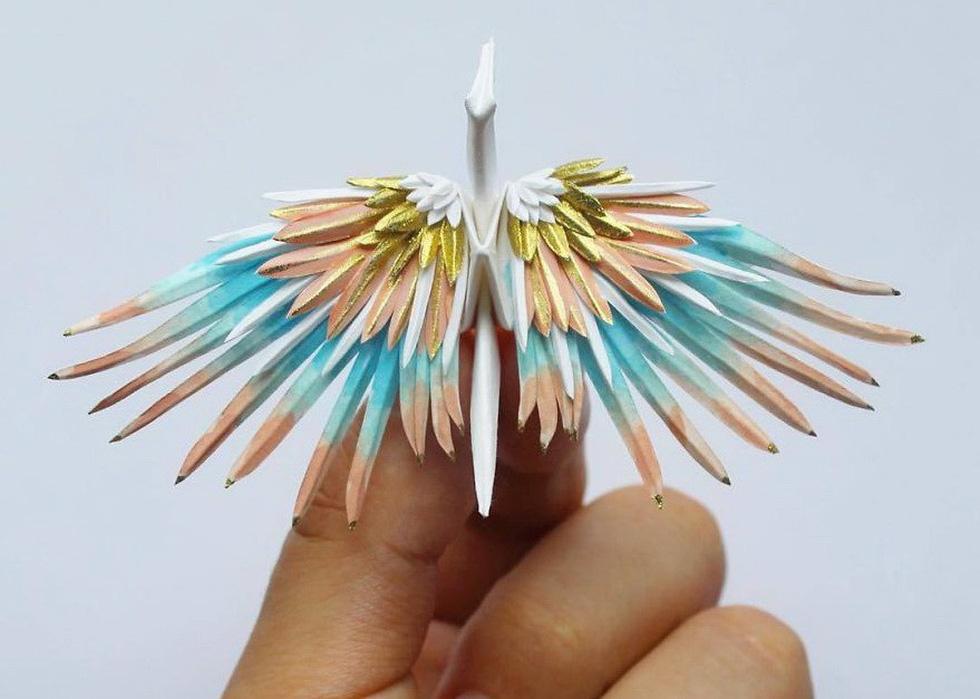 Ngắm những chú hạc giấy origami đẹp ngỡ ngàng - Ảnh 21.
