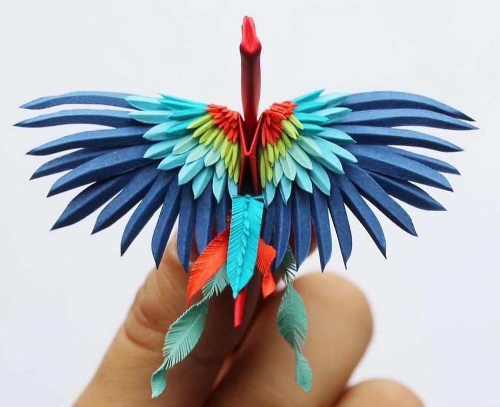 Ngắm những chú hạc giấy origami đẹp ngỡ ngàng - Ảnh 22.