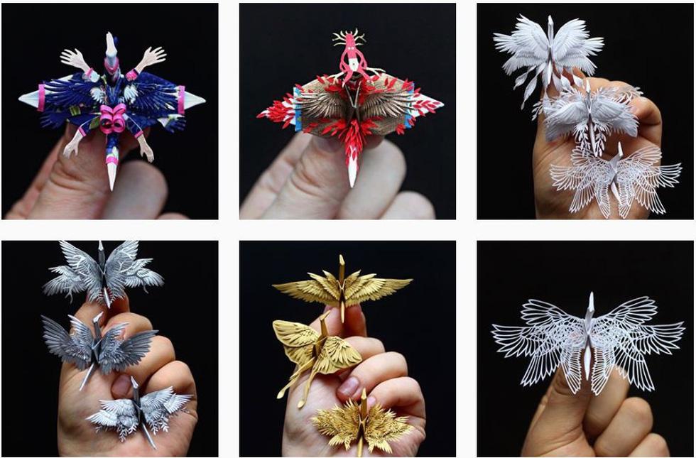 Ngắm những chú hạc giấy origami đẹp ngỡ ngàng - Ảnh 1.