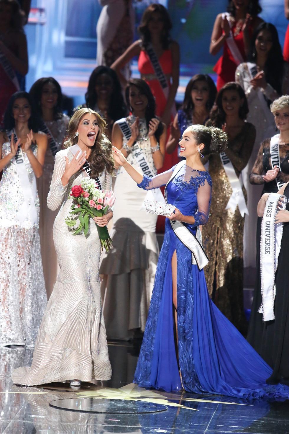 Thí sinh Miss Universe khóc, la thét, há hốc mồm khi là Hoa hậu - Ảnh 6.