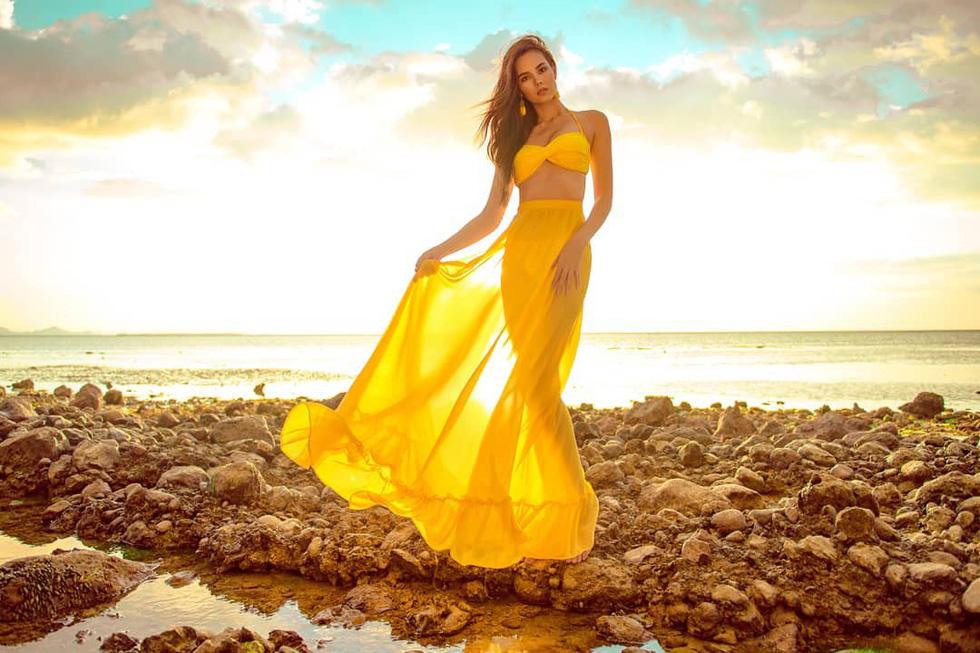 Kiểu catwalk nham thạch của Hoa hậu Hoàn vũ Catriona Gray - Ảnh 4.