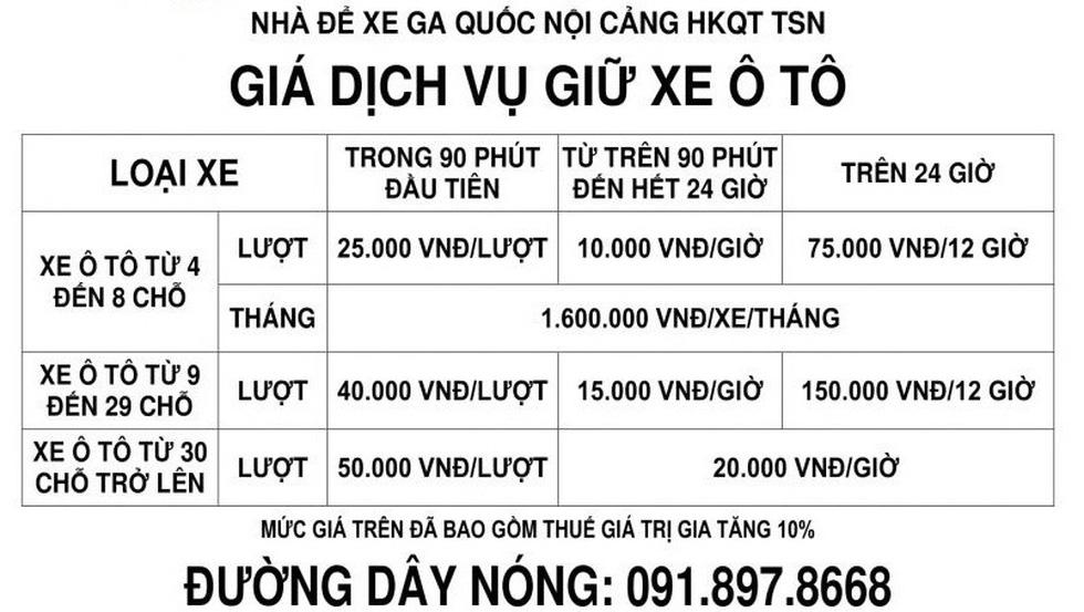 Sắp tăng giá giữ xe ở sân bay Tân Sơn Nhất - Ảnh 3.