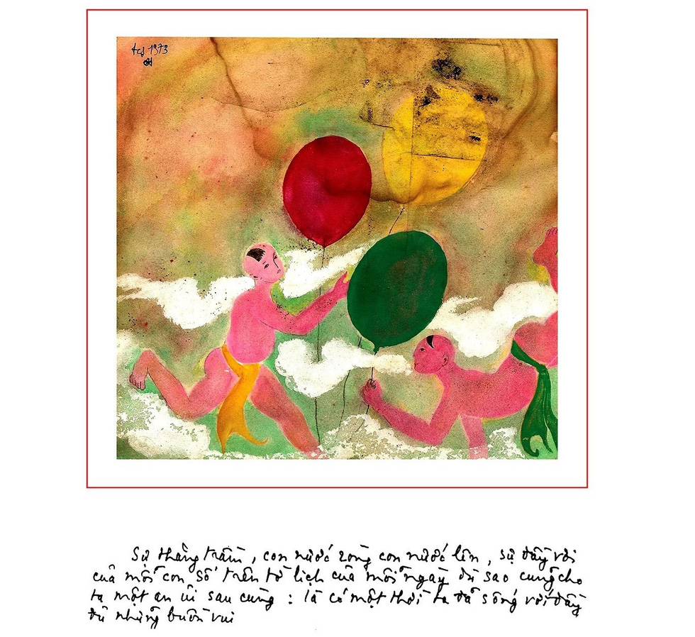Lần đầu được ngắm cả bộ tranh của nhạc sĩ Trịnh Công Sơn - Ảnh 1.