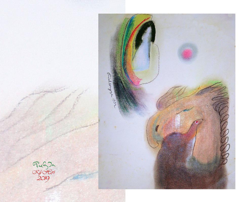 Lần đầu được ngắm cả bộ tranh của nhạc sĩ Trịnh Công Sơn - Ảnh 2.
