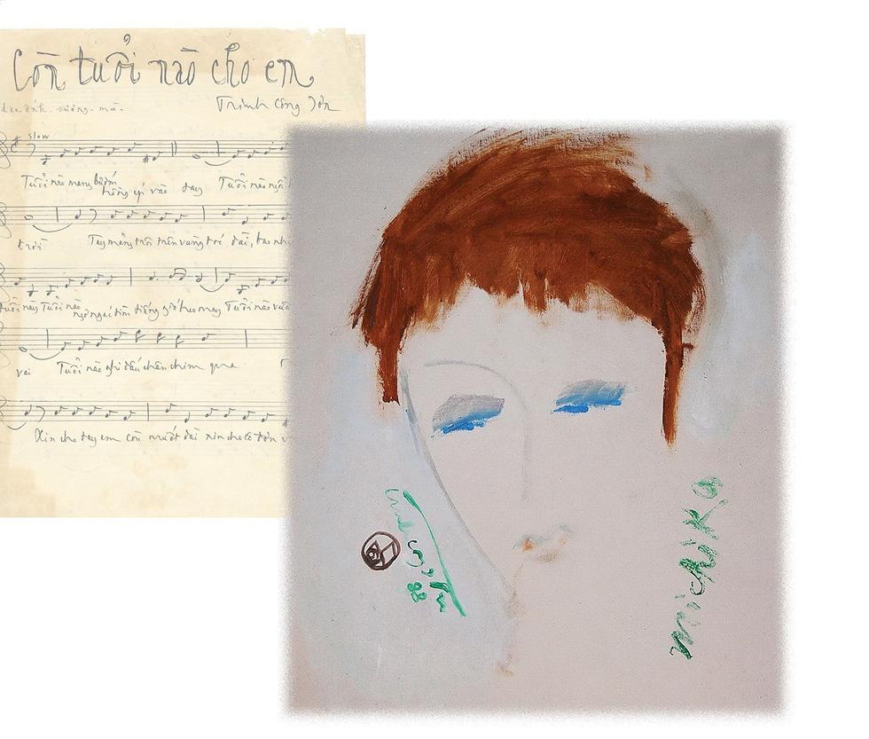 Lần đầu được ngắm cả bộ tranh của nhạc sĩ Trịnh Công Sơn - Ảnh 4.