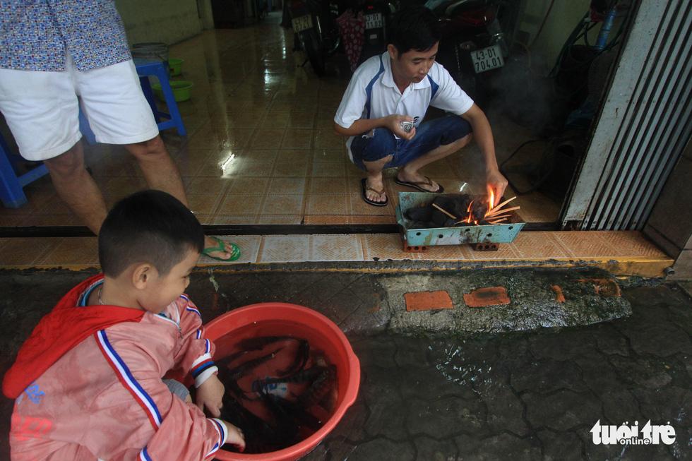 Sau mưa, dân Đà Nẵng nô nức ra đường bắt cá - Ảnh 7.